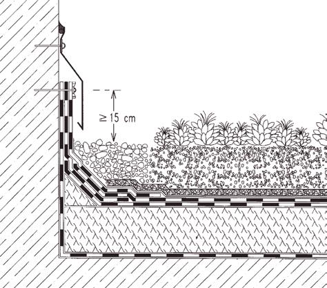 Rys. 4. Hydroizolacja przy przyległej ścianie (rys. Bauder)