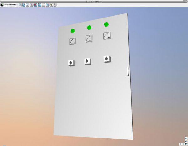 Rys.11 Wygenerowany widok tablicy rozdzielczej w 3D.