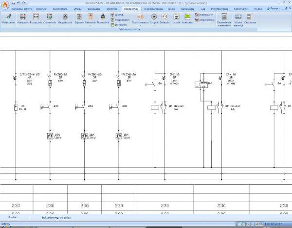 Rys.3 .Połączenia elektryczne na schemacie