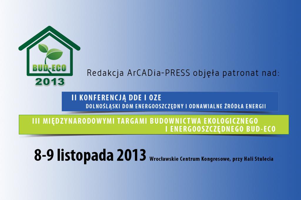 II Konferencja DDE i OZE oraz III Targi BUD-ECO 2013